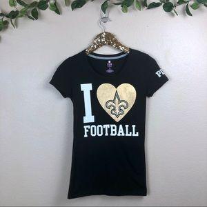 Victoria Secret PINK • New Orleans Saints Top